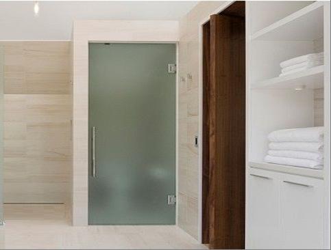 cửa kính cường lực 1 cánh nhà tắm