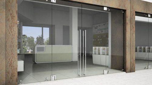 Cửa kính thủy lực có tính thẩm mỹ cao, sáng bóng và hiện đại
