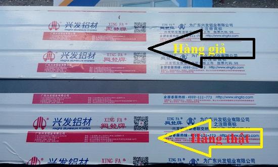 Hướng dẫn phân biệt cửa nhôm xingfa nhập khẩu chính hãng 100%